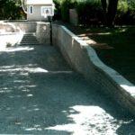 Aménagement paysager de murets et d'escaliers
